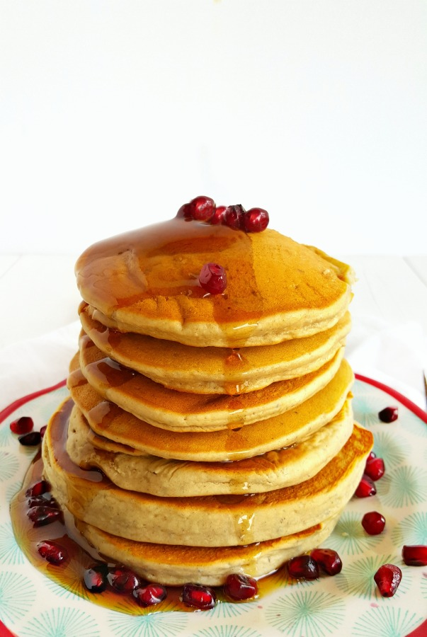 Fluffy Blender Pancakes (gluten-free, vegan + nut-free)