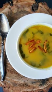 Pureéd beans give this soup its velvety texture without the need to dairy.