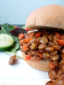 Forget the store-bought can of sauce! These quick and easy Homemade Lentil Sloppy Joes taste way better without the junk!
