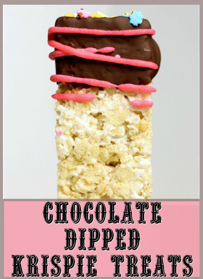How do you make Rice Krispie Treats better? How about making them allergy-friendly then dipping them in chocolate for a delicious, Top 8, Gluten-free & Vegan Chocolate Dipped Krispie Treats everyone can enjoy.