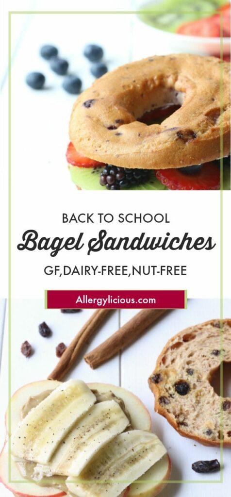 Fruity & fun bagel sandwich ideas for back to school lunch