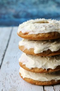 Treat yourself to a delicious carrot cake donut. And have 2 because their vegan & gluten-free.