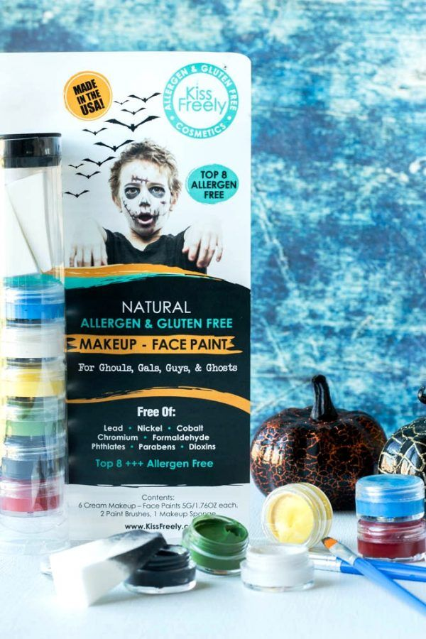 Looking for allergy-free Halloween make-up, to turn your little princess into a goblin?  Look no further with Kiss Freely!