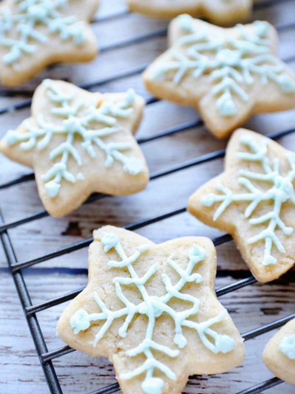 Soft & fluffy vegan cut-out sugar cookies