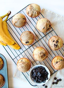 Chocolate Banana Split Muffin