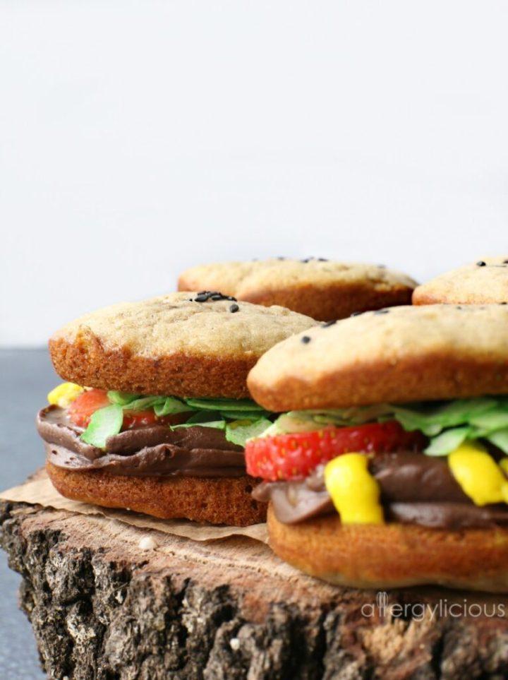 whoopie pie burgers side view