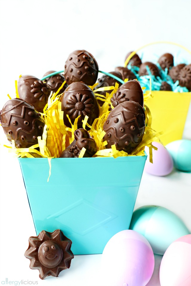Chocolate Chip Cookie Dough Filled Easter Eggs