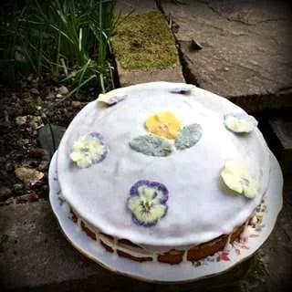 Gluten Free, Vegan Flower Cake