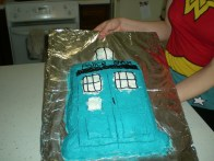 April - Michael's Tardis birthday cake!