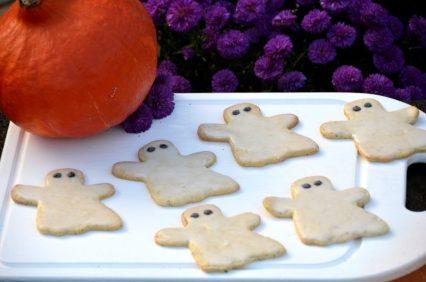 glutenfreie Halloween Gespenster Kekse