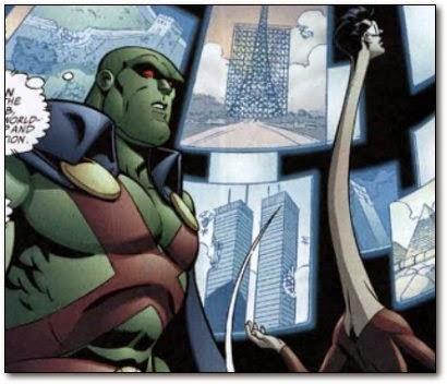 2001 (Sept) - Marvel Comic. Die beiden Türme sind ziemlich beschädigt.