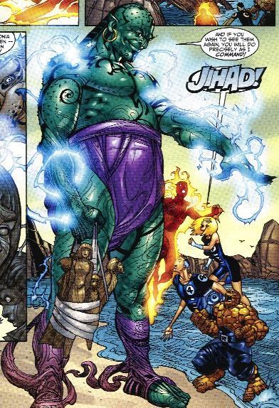 2001 (Sept.) - Der New-Yorker Comicverlag Marvel führt am 1. Sept. eine neue Comic-Figur ein. Ihr Name ist Jihad (arabisch, militärischer Kampf).