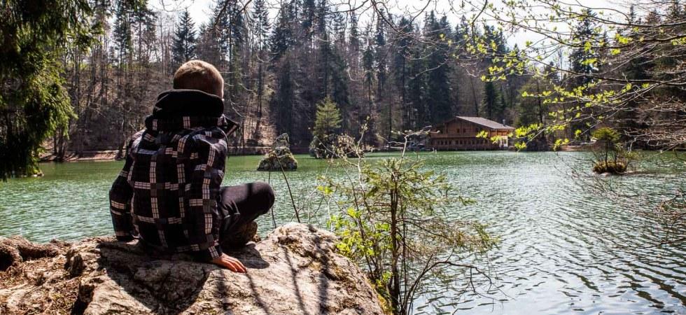 Berglsteiner See Kramsach mit Kindern