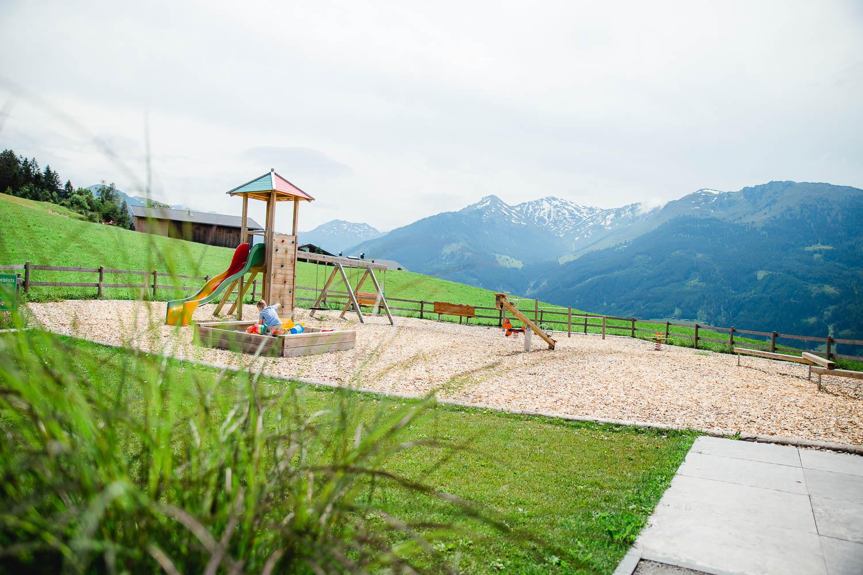 Das Hüttegg am Weerberg - Der Spielplatz beim Hüttegg