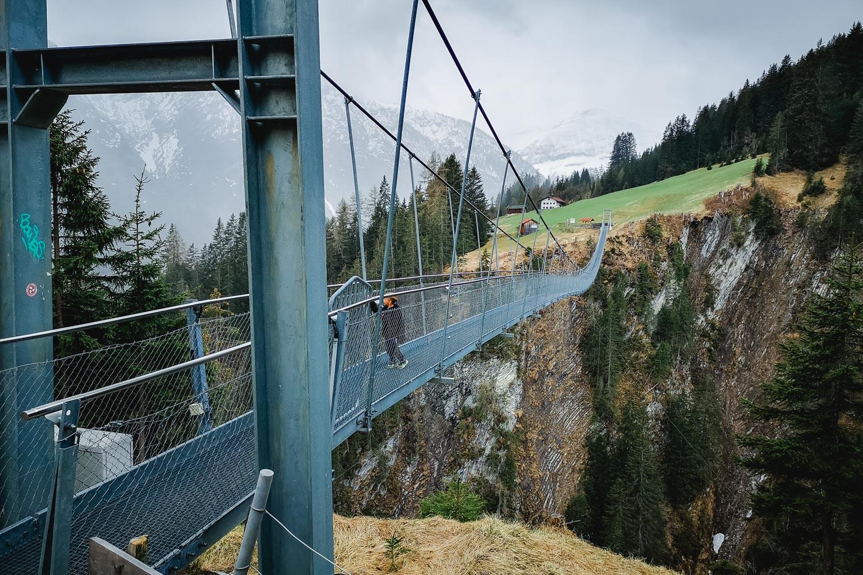 Hängebrücke Tirol - DIe längste kostenlo zugängliche Hängebrücke in Tirol ist die in Holzgau