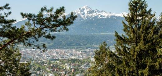 Haus Cäcilia Innsbruck | Blick Richtung Innsbruck