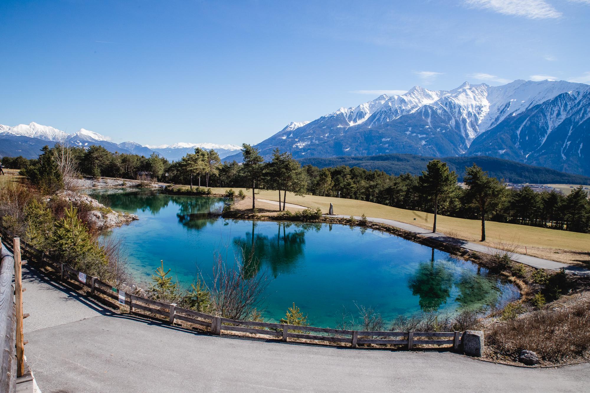 Ausflugsziele in Tirol - Der zum Golfplatz gehörende See