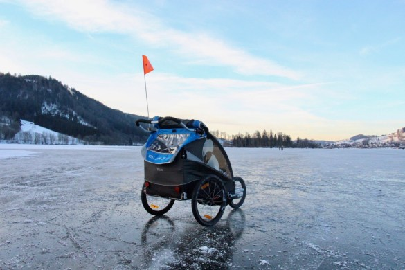 Der Burley auf dem Eis am Schliersee