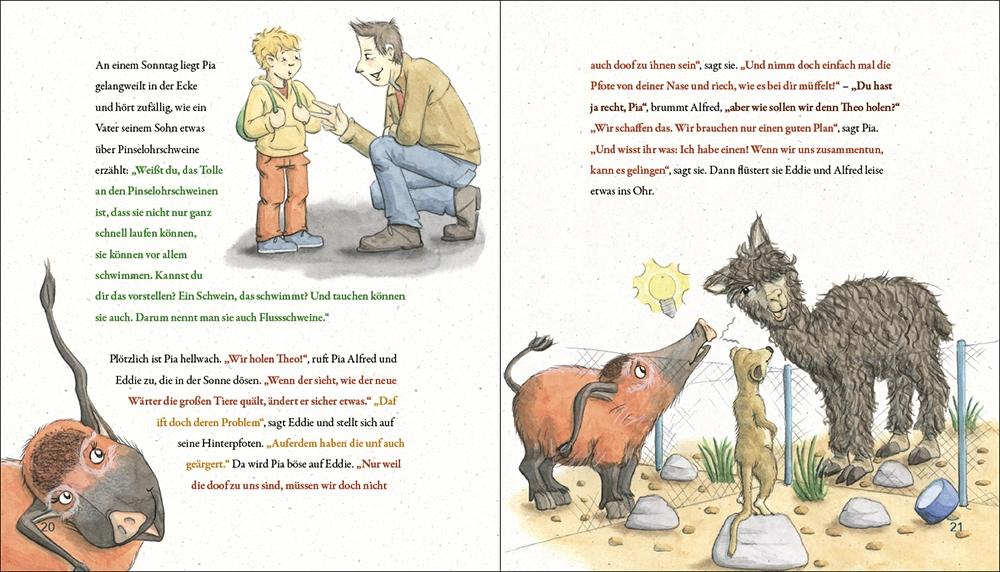 Seite aus dem Kinderbuch Pia Pinselohr