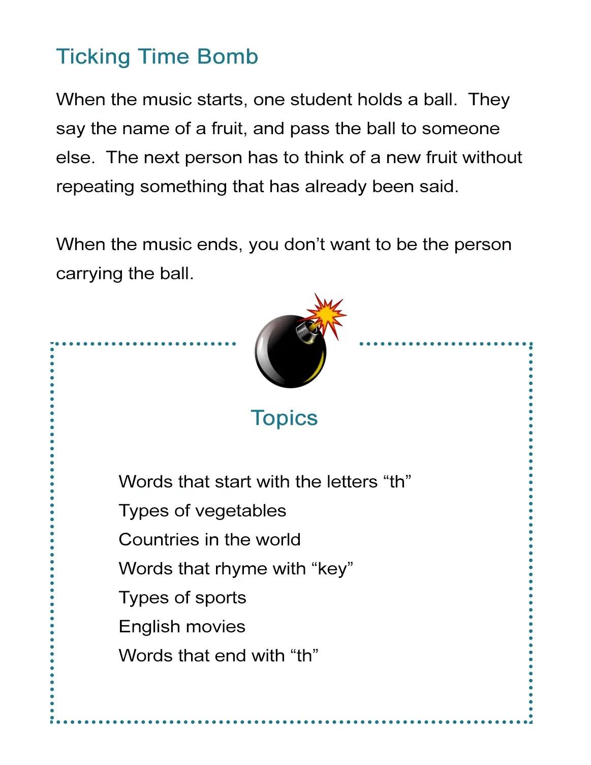 27 Free Esl Games To Teach English Like An All Star