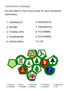 12 Christmas Untangle