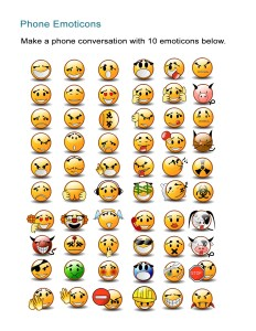 33 Phone Emoticons