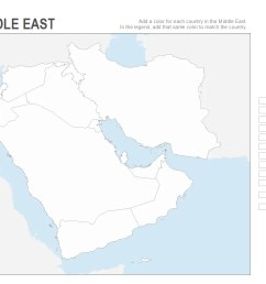 Map Of Middle East 7th Grade Worksheet   Printable Worksheets and  Activities for Teachers [ 850 x 1100 Pixel ]