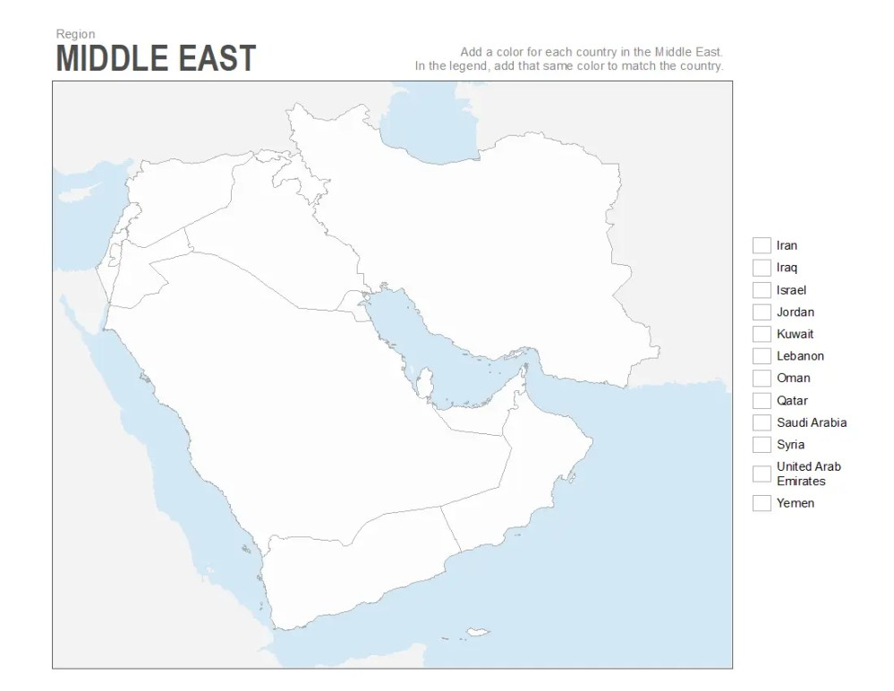 medium resolution of Map Of Middle East 7th Grade Worksheet   Printable Worksheets and  Activities for Teachers