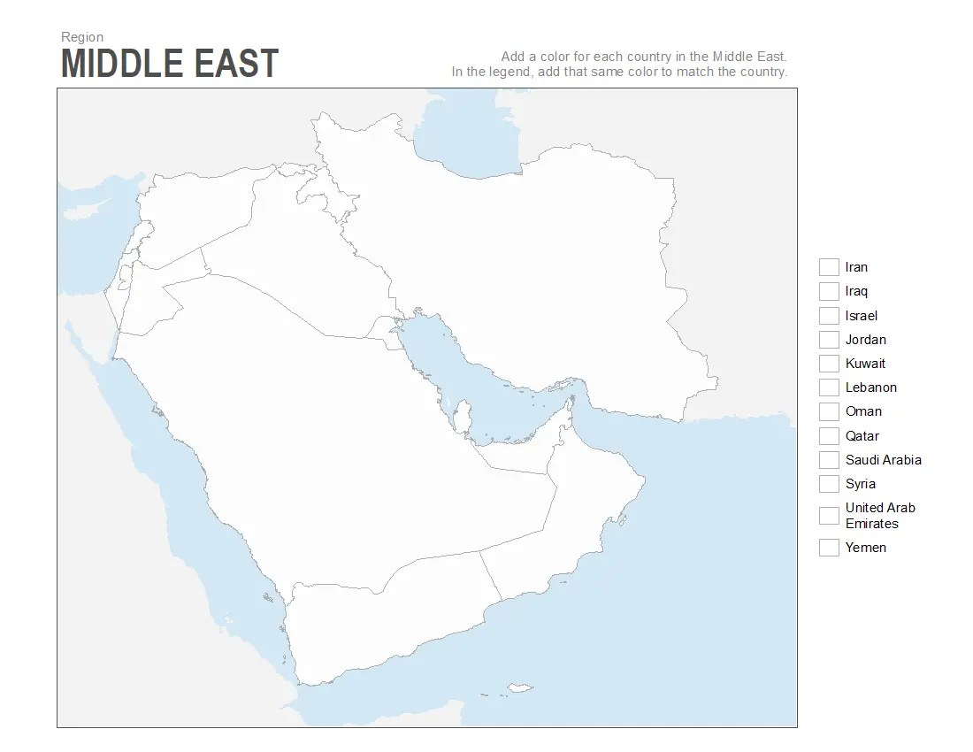 hight resolution of Map Of Middle East 7th Grade Worksheet   Printable Worksheets and  Activities for Teachers