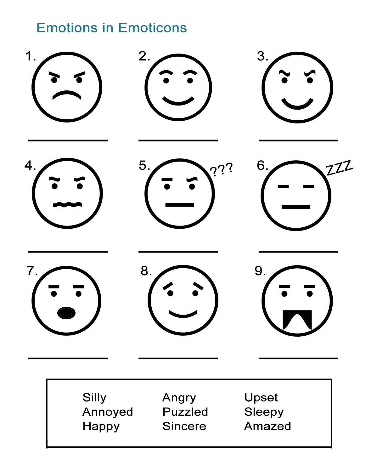 Adjectives To Describe Feelings Emoticon Emotions
