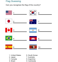 Flag Worksheet: Can You Identify the Country Flag? - ALL ESL [ 1505 x 1163 Pixel ]