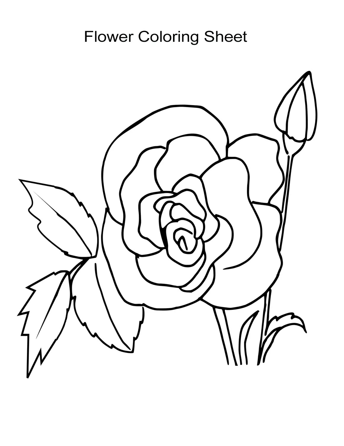 10 Flower Coloring Sheets for Girls and Boys - ALL ESL | free coloring pages for girls-flowers