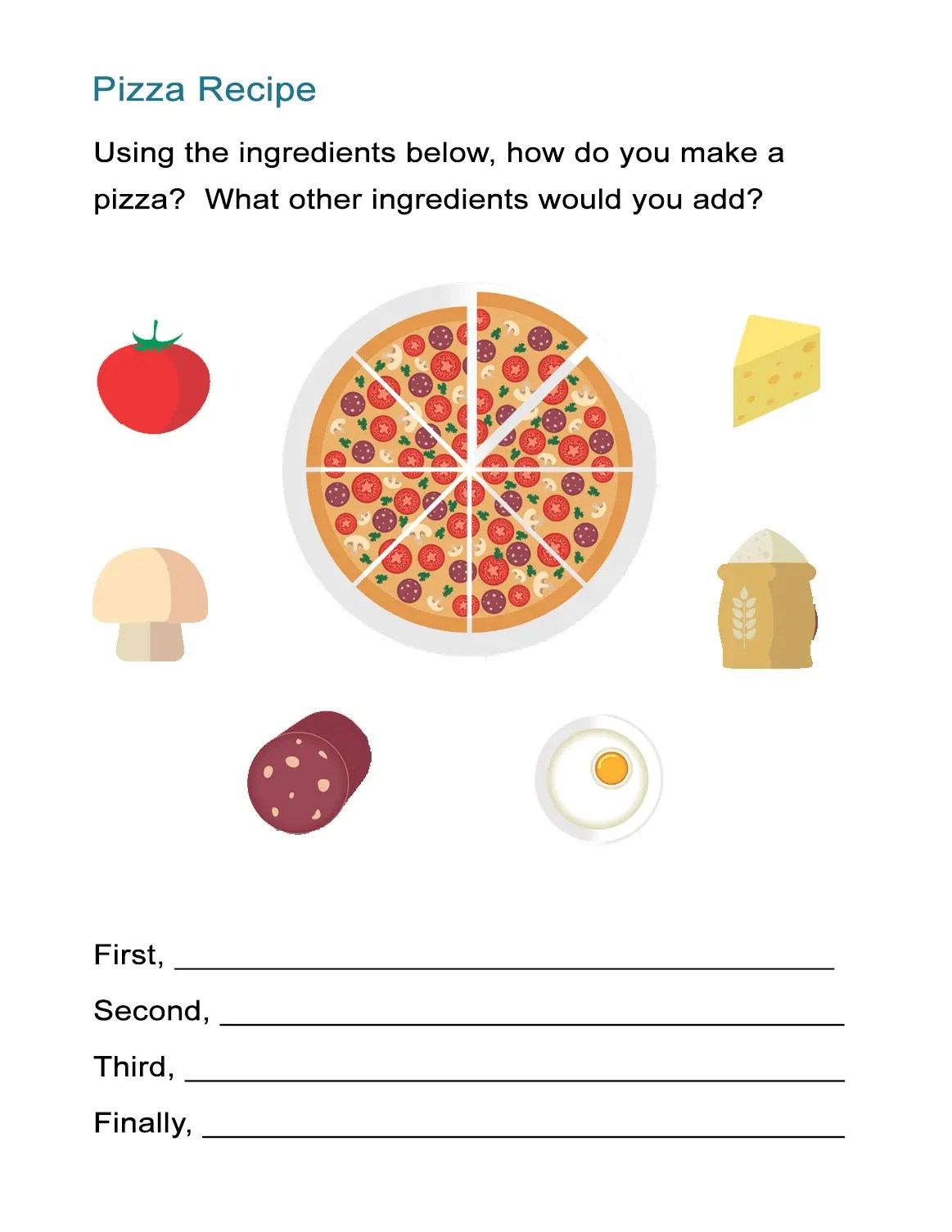 Pizza Sequence Worksheet