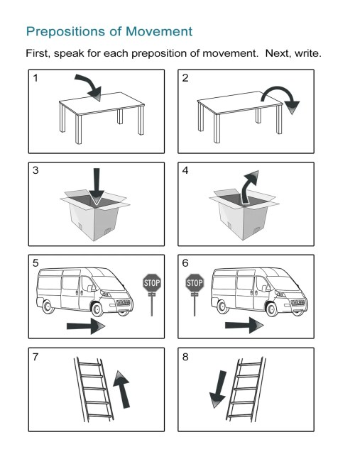 small resolution of Prepositions of Movement Worksheet - ALL ESL