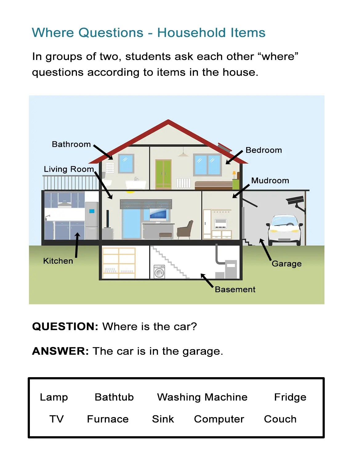 Where Questions Worksheet