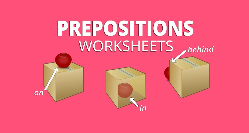 medium resolution of 5 Preposition Worksheets for Place