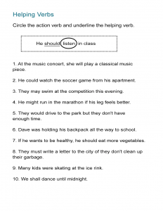7 Verb Worksheets How To Teach Action Words