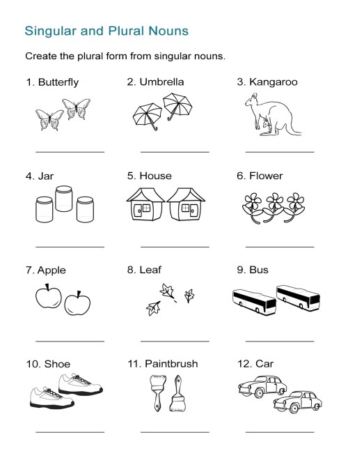 small resolution of Singular and Plural Nouns Worksheet - ALL ESL