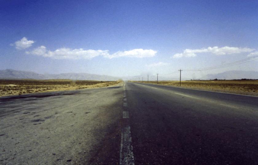 Het eerste asfalt in Iran