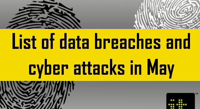 List of data breach May