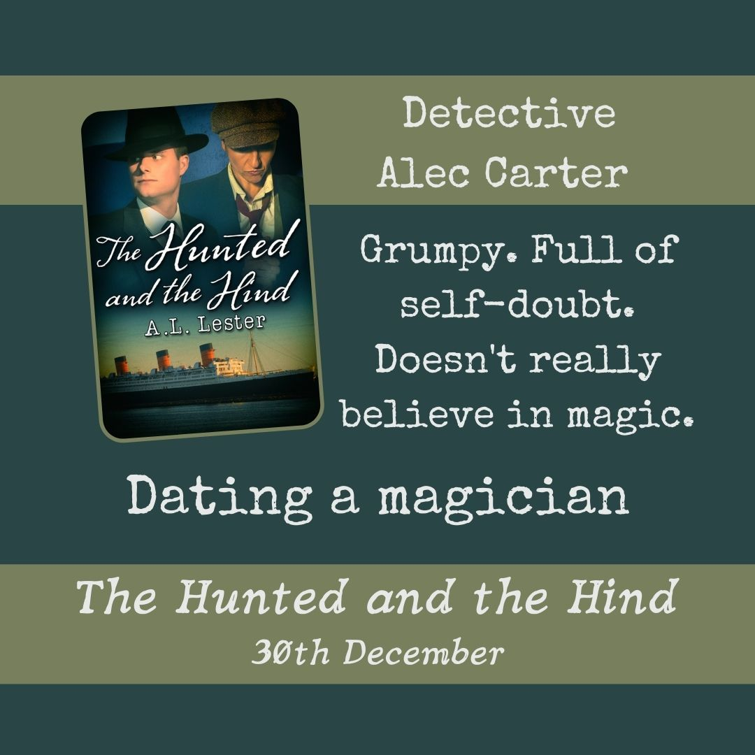 Detective Alec Carter. Dating a magician.
