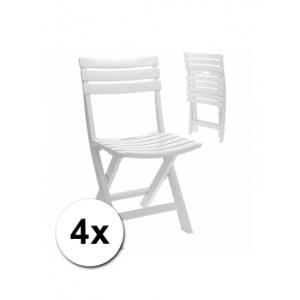 Witte klapstoelen 4 stuks