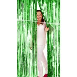 Groen folie decoratie gordijn 200 cm