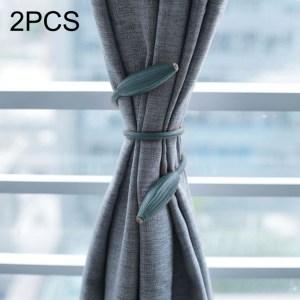 2 stuks mode versieringen creatief gordijn stropdas touw (marineblauw)