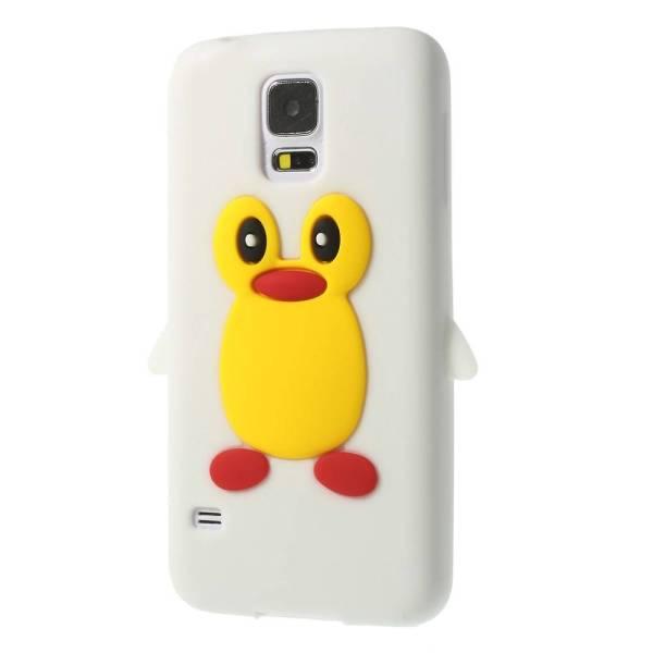 3D Pinguïn Samsung Galaxy S5 hoesje wit