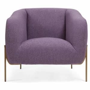Jesper Home Nara Lounge Chair Violet Daisy Stof Violet Daisy