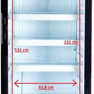 Exquisit ELDC400.2XL - Horeca koelkast - Glazen deur