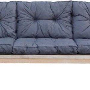 Goedkope loungebank met zwarte kussens
