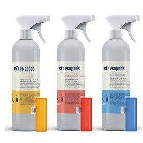 Herbruikbare Sprayfles voor EcoPods schoonmaakmiddel met capsule