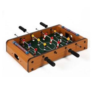 Mini tafelvoetbal spel voor op de eettafel 51 x 31 cm